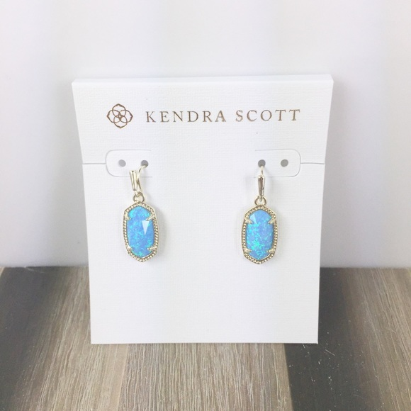 Kendra Scott Jewelry - Kendra Scott Lee ocean Kyocera opal gold earrings